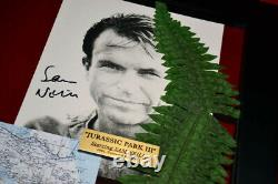 JURASSIC PARK Props, Signed SPIELBERG, SAM NEILL Autograph UACC, COA DVD, Frame
