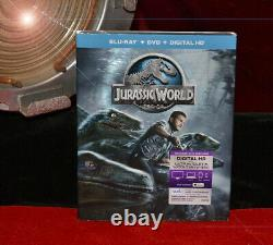 JURASSIC WORLD Prop DINOSAUR, signed CHRIS PRATT Autograph, UACC COA, DVD, Frame