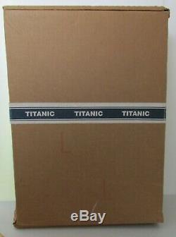 J. PETERMAN FRAMED TITANIC DINNER PLATE WHITE STAR LINE MOVIE PROP WithCOA & BOX
