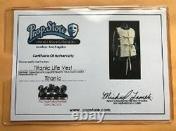 J. Peterman Titanic Movie Original Prop Life Jacket From Sinking Scenes with COA