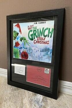 Jim Carrey BECKETT Signed Autographed 11x14 Display The Grinch Movie Prop