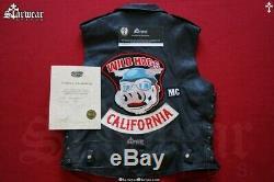 John Travolta WILD HOGS Leather Biker Vest Screen Worn Used Movie Prop With COA