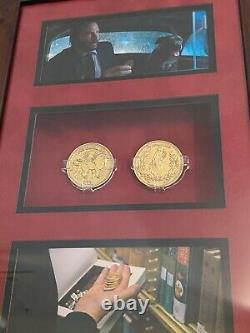 Keanu Reeves John Wick Screen Used Continental High Table Gold Coin Movie Prop
