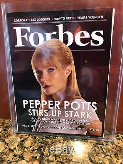 Marvel Avengers Movie Prop Iron Man 3 Pepper Potts Forbes Magazine + Bonus