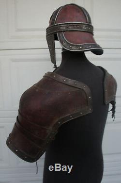 Medieval Roman Leather Pauldron Armor Helmet LARP SCA DRACULA UNTOLD Movie Prop
