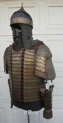 Medieval Turkish Leather Chest Armor Helmet LARP SCA DRACULA UNTOLD Movie Prop T