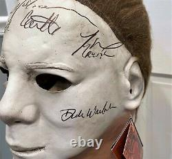 Michael Myers 7X SIGNED Halloween Mask with COAs Rare bust prop statue figure