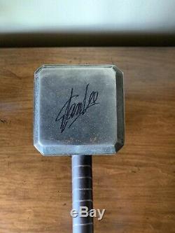 Museum Replicas Sideshow Thor Hammer MJOLNIR Prop Replica Signed/Auto X10 COA