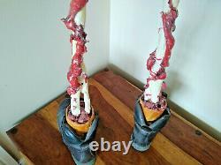 +NOW W. SHIPPING+ Large Original Horror Film Prop Brain on Legs Holding Eyeball