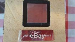 ORIGINAL AUTHENTIC PIECE OF SINKING ORCA 2 ll FROM JAWS COA MOVIE SHARK BOAT