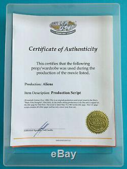 Original ALIENS Movie Script Dan Perri Signed Screen-used / Production-used
