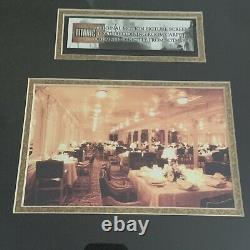 Original Carpet From The Set Of The Titanic Movie Framed