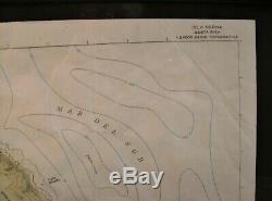 Original Filmrequisite Jurassic Park 2 Prop Landkart Map of Isla Sorna 1997 COA