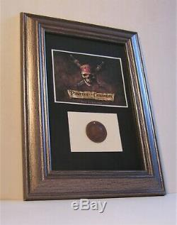 Original Filmrequisite POTC Fluch der Karibik Pirates Coin Anhäger 2003 Prop COA