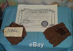 Original HOUSE OF 1000 CORPSES - KARL'S GLOVES screen-used movie prop withCOA