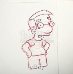 Original Hand drawn Simpsons Studio Artwork 7 sheets Milhouse