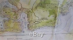 Original JP Jurassic Park 2 Requisite Prop Landkarte Map of Isla Sorna 1997 COA