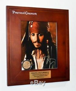 PIRATES OF THE CARIBBEAN Disney Prop, Blu Ray DVD JOHNNY DEPP Signed, DISNEY COA