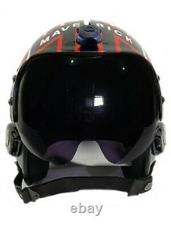 Polyst Fighter Pilot Maverick Helmet TOP Gun Movie Prop Naval Aviator USN HGU-33