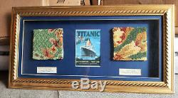 RMS Titanic Movie Prop Carpet Display COA White Line Interest James Cameron