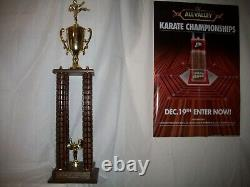 Ralph Macchio the Karate Kid movie original prop replica all valley trophy 1984