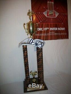 Ralph Macchio the Karate Kid movie original prop replica all valley trophy 1984
