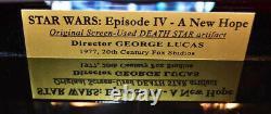 Rare DEATH STAR Screen-Used PROP STAR WARS IV, COA London Props, DVD Lit CASE