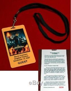 Rare NIC CAGE Signed NATIONAL TREASURE Prop COIN Disney, Frame Blu DVD COA UACC