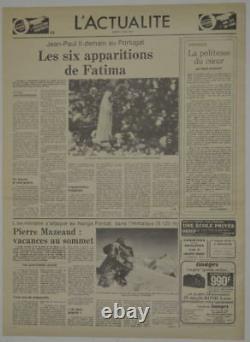 Rare SUPERMAN Movie 1978 PROP NEWSPAPER Le Figaro'Le Scandal de Superman' COA