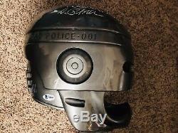 Robocop Rare Hand Signed Detroit Police Prop Helmet Movie Peter Weller PROOF BAS