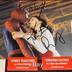 SPIDER-MAN Prop Costume piece, Signed MAGUIRE, DUNST, DEFOE, MOLINA Blu DVD, COA