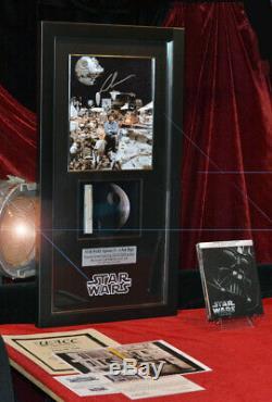 STAR WARS IV Screen-Used Prop DEATH STAR, Signed GEORGE LUCAS COA Frame DVD UACC