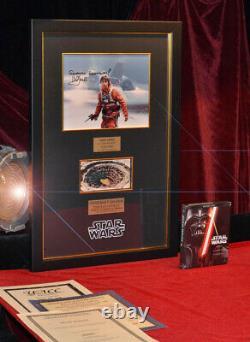STAR WARS Prop SARLACC Mark Hamill Signed Autograph COA, UACC, Blu Ray DVD, Frame