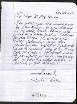 STEVE MCQUEEN Worn Used Watch Cincinnati Kid Movie Prop COA PROVENANCE Letter