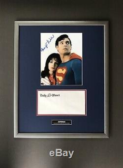 SUPERMAN (1978) ORIGINAL DAILY PLANET PROP & AUTOGRAPH withCOA
