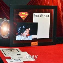 SUPERMAN Prop STATIONERY, Signed MARGOT KIDDER, COA UAC, Frame, DVD, Real CAPE