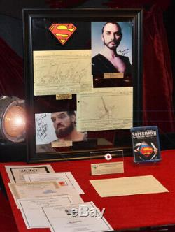SUPERMAN STORYBOARDS, Signed TERENCE STAMP (Zod) COA UACC, Frame, DVD, Real CAPE