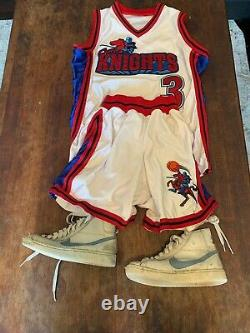 SUPER RARE Nike Shoes LIKE MIKE Movie Prop with Knights Jersey & Basketball Trunks