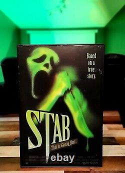 Scream 3 Screen Used Full Size STAB Movie Poster WithCOA Movie Prop Ghostface