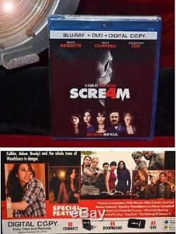 Scream 4 PROP Sydney BOOK, Signed WES CRAVEN & NEVE CAMPBELL, Frame COA UACC DVD