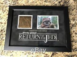 Screen Used Movie Prop Star Wars Return Of The Jedi Wicket Ewok Fur Prop Store
