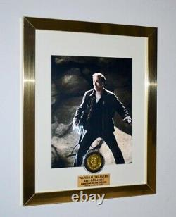 Screen-Used NATIONAL TREASURE Prop COIN, Signed Nic Cage DVD COA UACC PRESS Kit