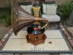 Screen Used Phonograph with Bag of Records Original Movie Prop from Peter Pan