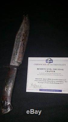 Screen used Movie Prop Resident Evil Retribution Mila Jovovich Stunt Boot Knife