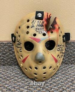 Signed 3x Friday the 13th 4 Jason Voorhees Neca Hockey Mask Prop statue sideshow
