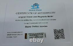 Snow screen used Harry Potter movies Hogwarts Model prop in Leavesden Studios