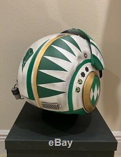 Star Wars Custom Green Power Ranger MMPR X-wing pilot Costume helmet Movie Prop