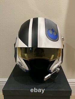 Star Wars Custom Replica Poe Dameron X-wing pilot Costume helmet Movie Prop