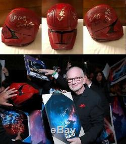 Star Wars The Rise of Skywalker Sith Trooper Helmet Signed Cast x9 Photo Proof