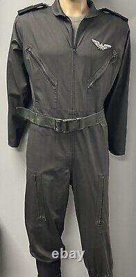 Starship Troopers L-XL Fleet Flight Suit, Shirt, Belt & Rank Epaulets Movie Prop
